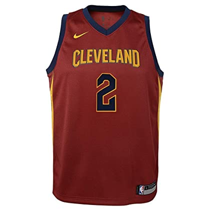 Nike Kyrie Irving Cleveland Cavaliers NBA Youth Burgundy Red Dri-Fit  Swingman Jersey (Youth 4448971bc