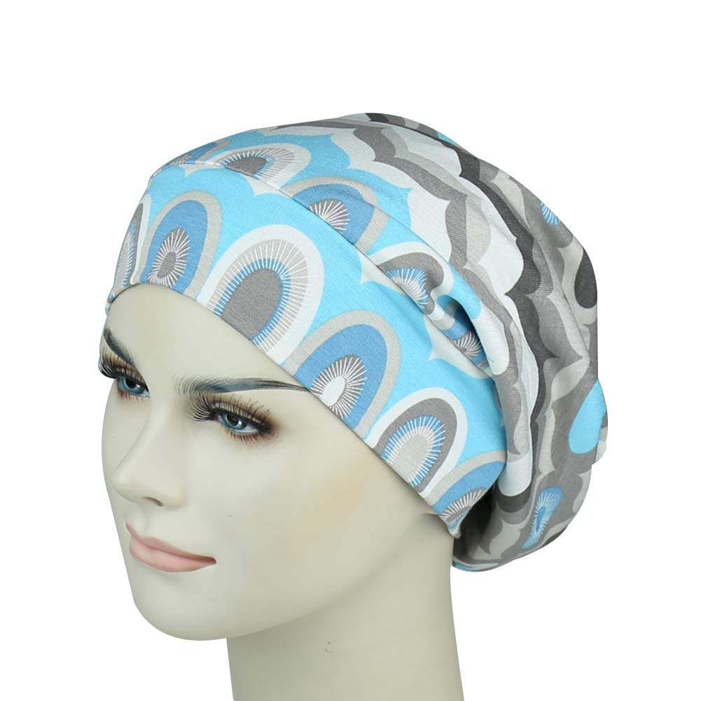 Satin Lined Sleep Cap For Long Hair Girl Casual Slouchy Beanie Wig Accessories Headwear