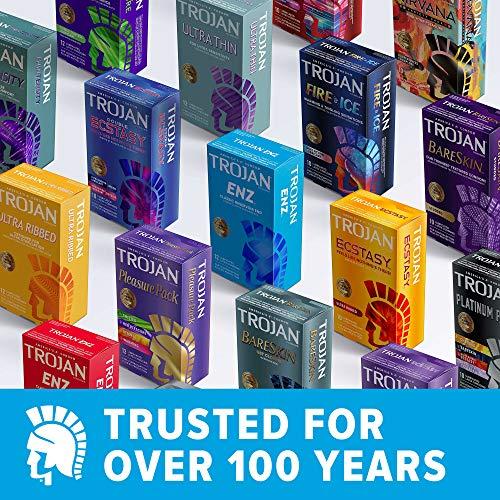 TROJAN Her Pleasure Sensations Condoms, 12 Count