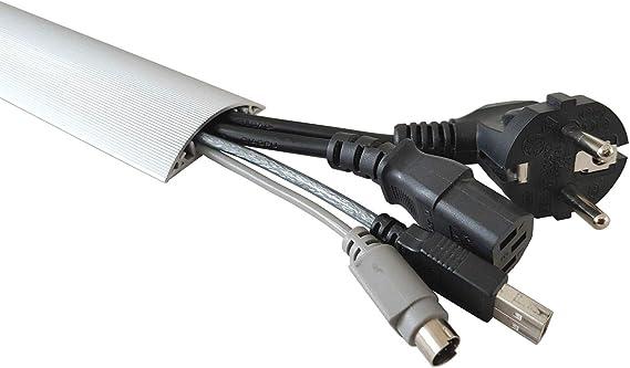 1m Aluminium Fussboden Kabelkanal 50mm Breit Selbstklebend Aussenmass Amazon De Baumarkt