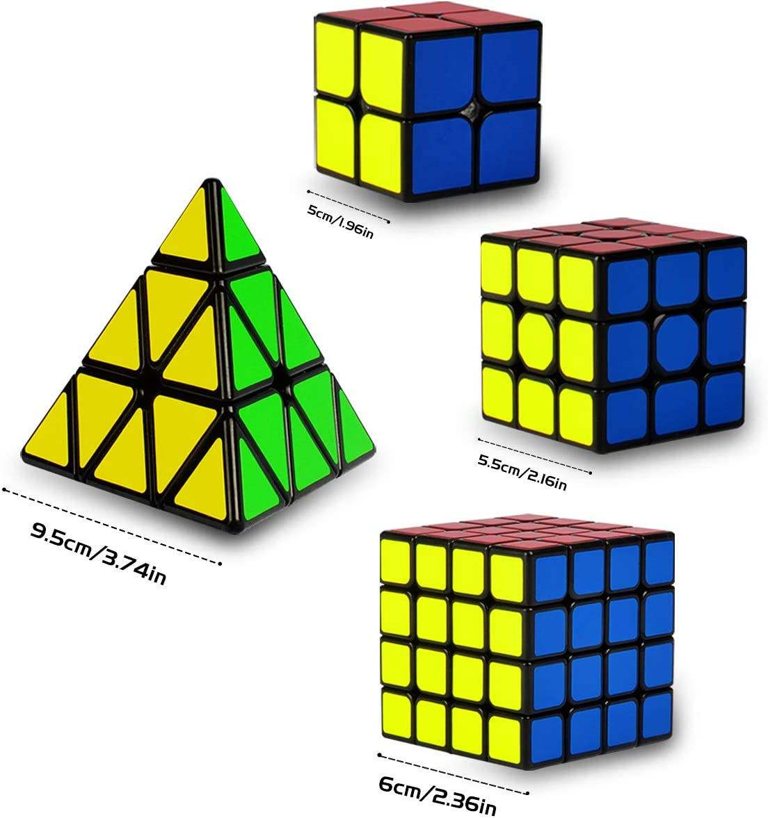 5 St/ück Speed Cube Set 2x2 3x3 Pyraminx Megaminx Mirror SpeedCube Coolzon Zauberw/ürfel Set 3D Puzzle Magic Cubes f/ür Kinder Erwachsene Anf/änger