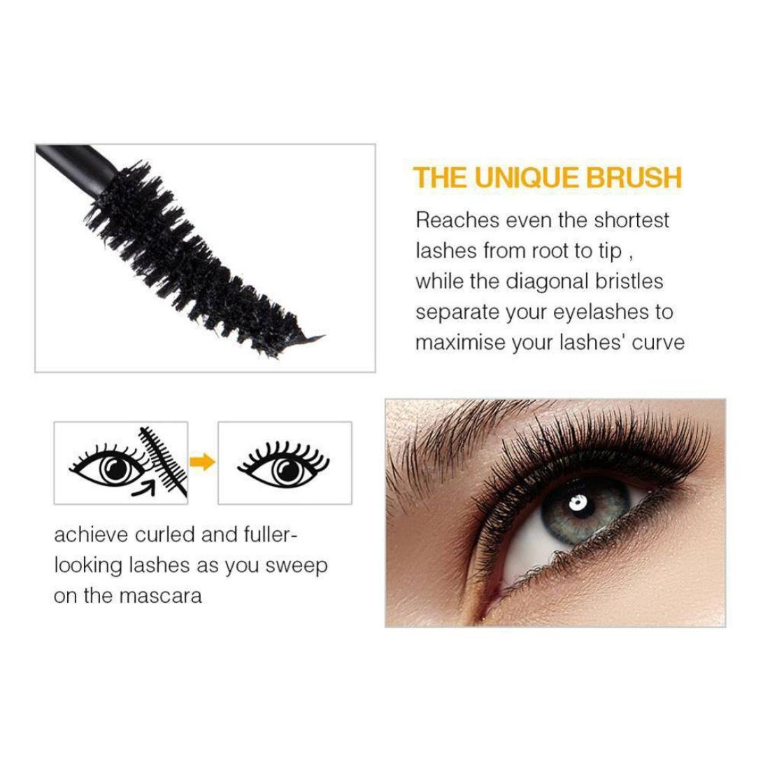 Amazon.com : Vovomay Waterproof Long Lasting Curling Makeup Eyelash Mascara, Eye Lashes Extension (Yellow) : Beauty