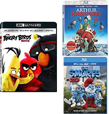 amazon com the angry birds movie 3d arthur christmas 3d the