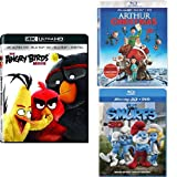 The Angry Birds Movie (3D) + Arthur Christmas (3D) + The Smurfs (3D)