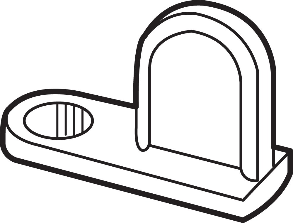 Bronze 12-Pack Prime-Line Products L 5583 Window Screen Clip and Flush