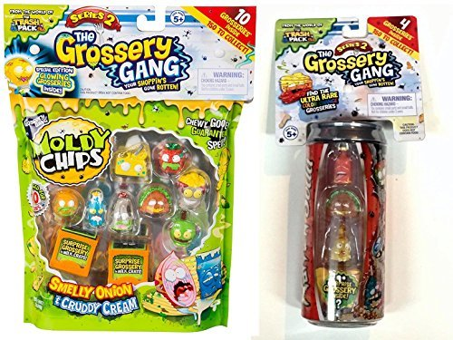 Grossery Gang Series 2 Bundle with Moldy Chips Pack & Rotten Soda Storage Can