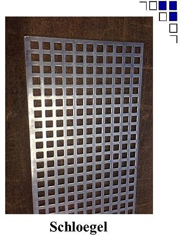 Aluminium Lochblech Rv 5-8 Pulverbeschichtet Anthrazit RAL 7016 Alu nach Maß