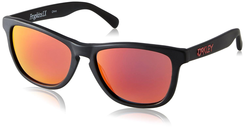 2a69ef5294 Amazon.com  Oakley Frogskins LX Adult Lifestyle Fashion Sunglasses - Matte  Black Ruby Iridium One Size Fits All  Oakley  Sports   Outdoors