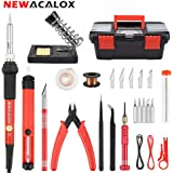 Soldering Iron Kit Electronics 27-in-1,DIY Adjustable Temperature 60W Welding Solder