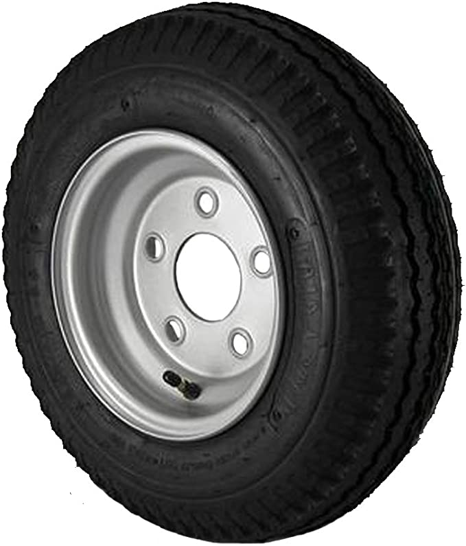 5.70x8 Loadstar Trailer Tire LRC on 5 Bolt White Wheel