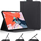 Skycase iPad Pro 12.9 Case (2018), iPad Pro 12.9 3rd Generation Case, [Support Apple Pencil Charging] Auto Dormancy Canvas Mu