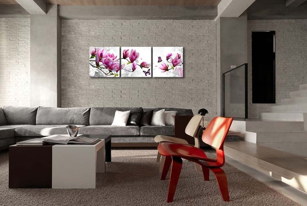 Canvas Print Wall Art Paintings for Home Decor Winter Scence Tree Pigeon Sunset Glow 4 Pieces Panel Modern Giclee Stretched and Framed Artwork The Pictures Landscape Photo Prints On Canvas Decoration