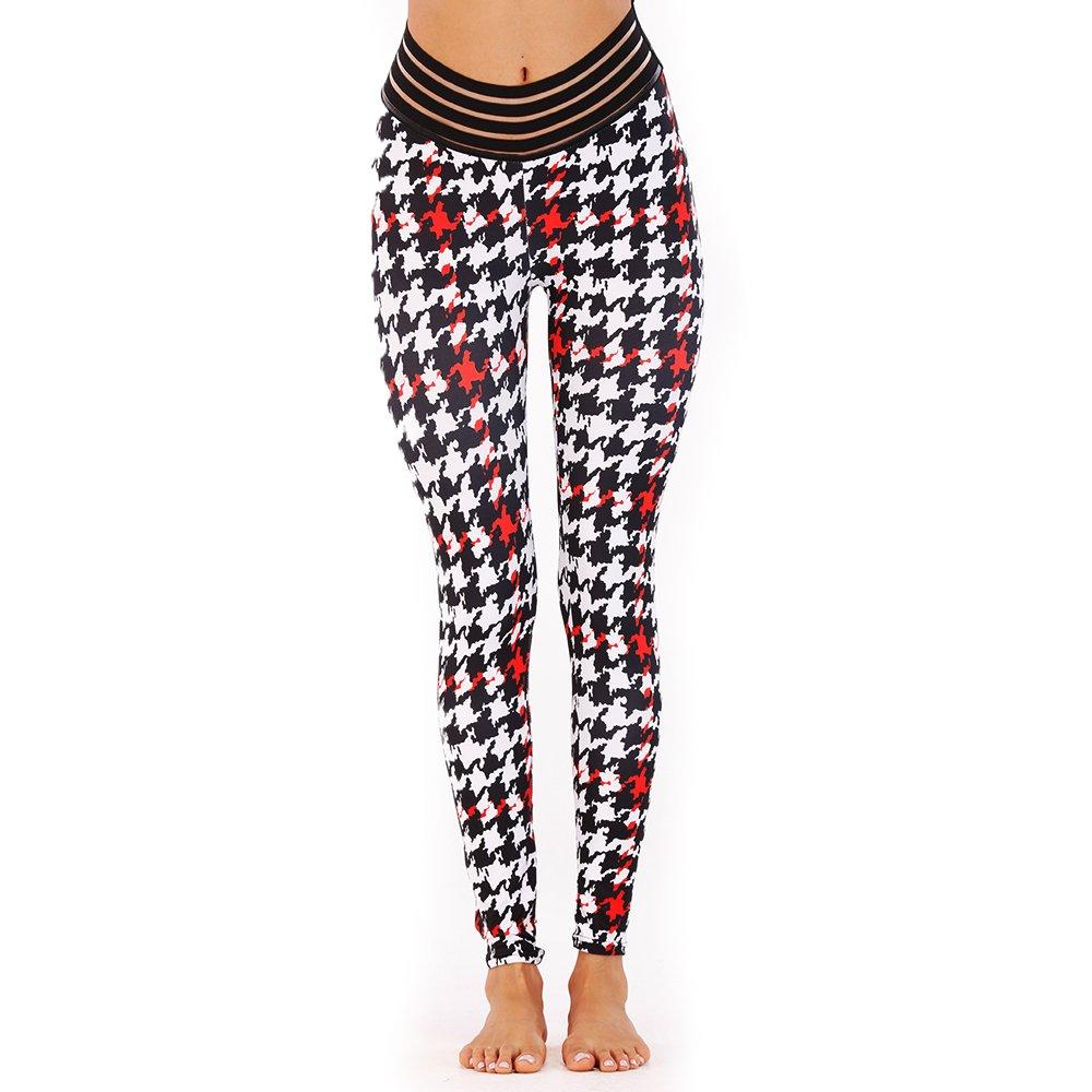 b4ec2b8092e930 Eseres Women Leggings Workout Yoga Pants High Waist Stretch Hip Legging at  Amazon Women's Clothing store: