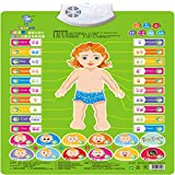 Wall Chart,NACOLA Baby Early Education Audio Digital Learning Chart Preschool Toy, Sound Toys For Kids-Self