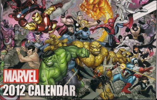 MARVEL 2012 Calendar - Many Prelisted Comic Conventions with full page images of Captain America, Thor, Iron Man, Spiderman, X-men, Wolverine, and Many others from the Marvel Family (Marvel Calendar, 1) by