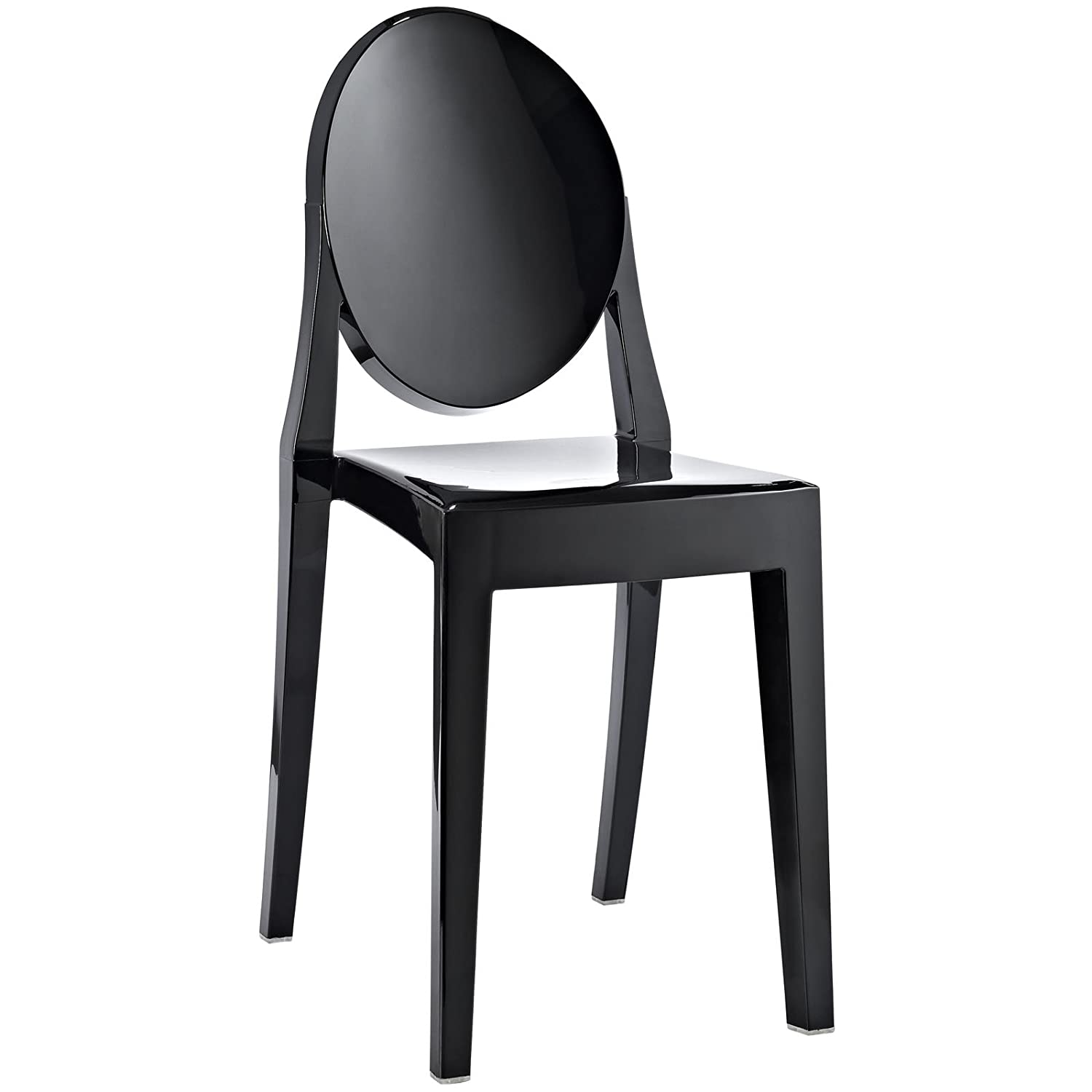 Superbe Amazon.com   Modway Casper Modern Acrylic Dining Side Chair In Black    Chairs