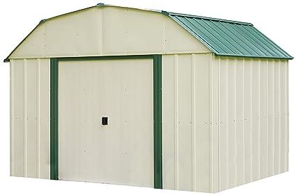 Arrow Vinyl Sheridan Steel Storage Shed, Meadow Green/Almond, 10 x 8 ft