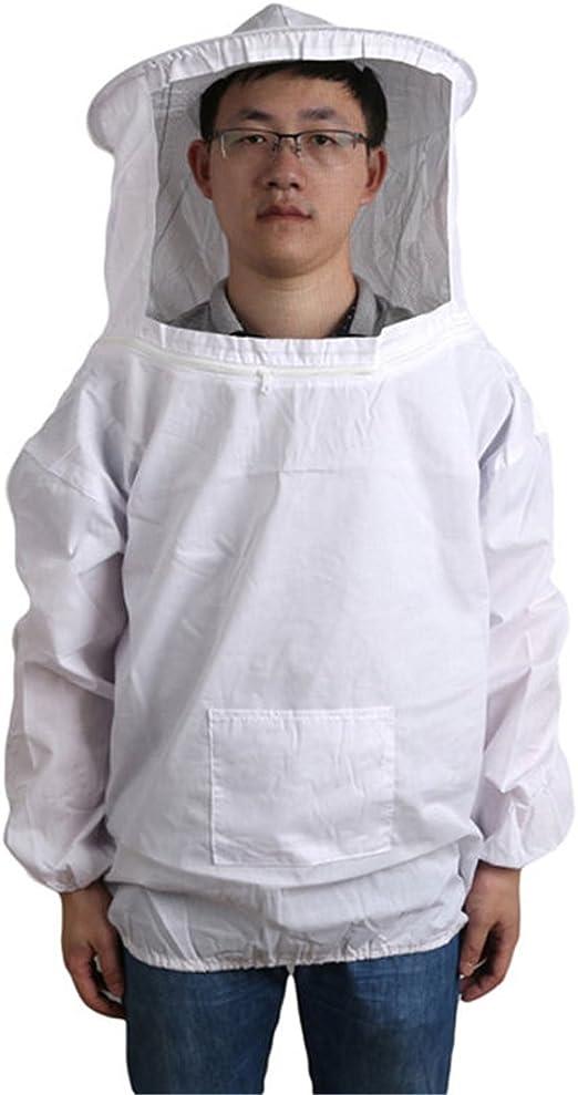 Large Beekeeping Jacket, Bee Keeping Suit New Professional White Medium