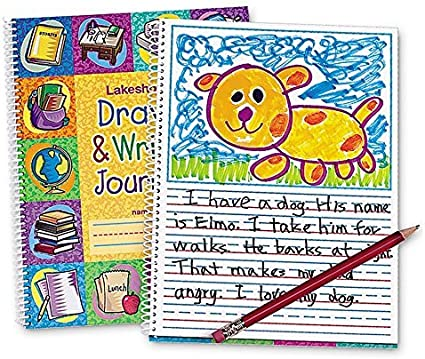 """Lakeshore Learning Draw /& Write Journal Set 10 Home School 1//2"""" Ruling Practice"""