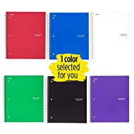 """Five Star Spiral Notebook, 3 Subject, College Ruled Paper, 150 Sheets, 11"""" x 8-1/2"""", Color Selected For You (06210)"""