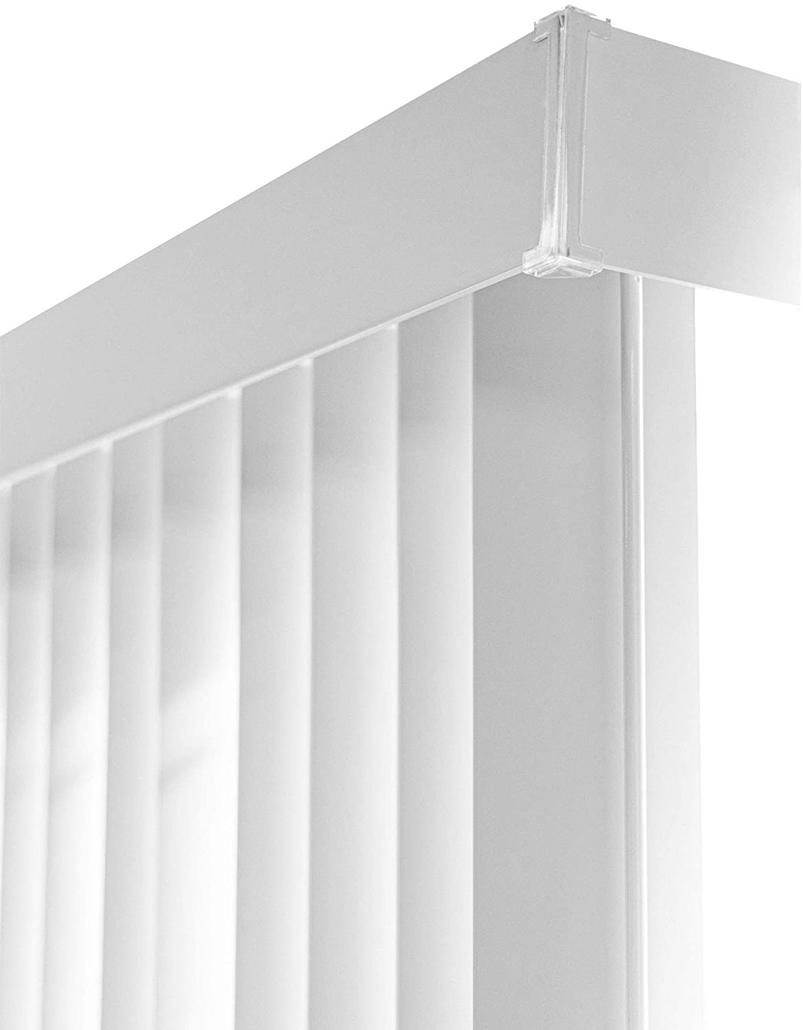 "CHICOLOGY Cordless Vertical Blinds Patio Door or Large Window Shade, 78"" W X 84"" H, Oxford White Vinyl"