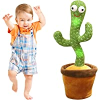 Sing Cactus Mimicking Toy,Funny Dancing Cactus Toy,Luminous Cactus Plush Toy,Doll Early Childhood Education Toys,Can…