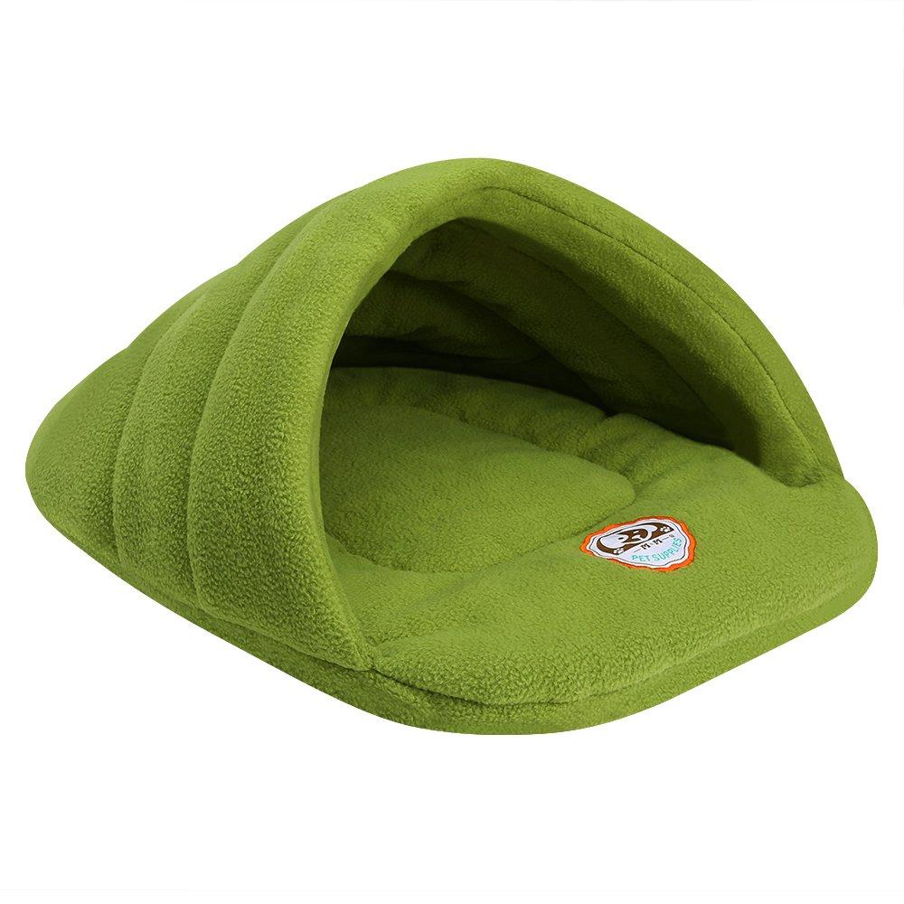 Camas Para Perros,World 9.99 Mall Cueva de mascotas Suave y cálida cama para gatos Casa para perros y gatos(XS/S/M/L) (verde, M): Amazon.es: Productos para ...