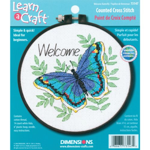 Dimensions Learn a Craft Welcome Butterfly Counted Cross Stitch Kit