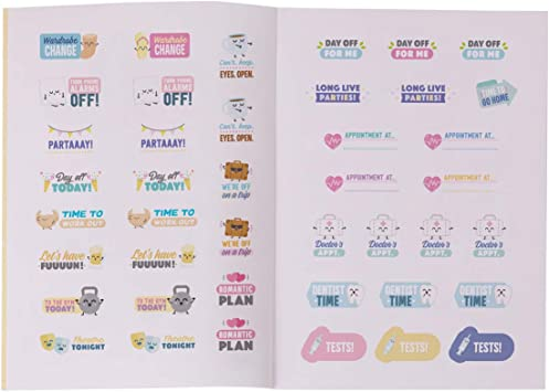 Quaderno di adesivi per decorare agenda e planner