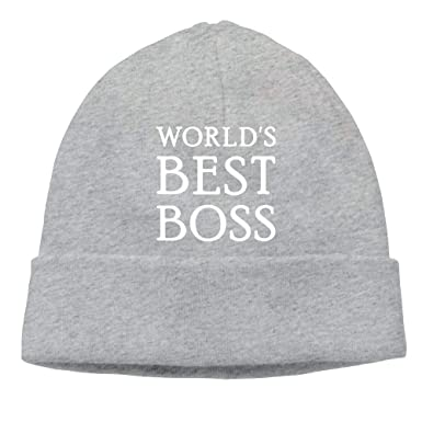 World s Best Boss Beanie Hat Knit Cap for Unisex at Amazon Men s ... a9f3fd456b3