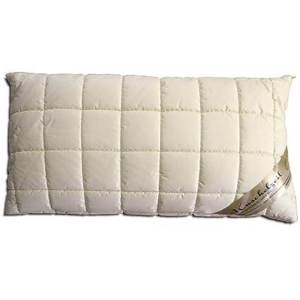 Kopfkissen Schurwolle 100/% Merino Wolle 40x80 Füllung Wolle Made in Germany