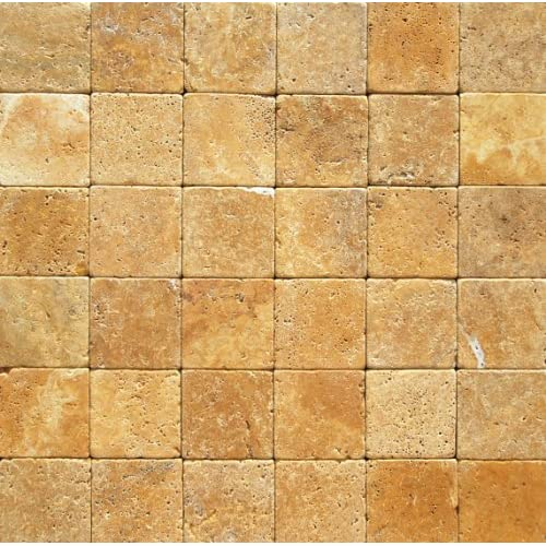 High Quality Goldyellow 6x6 Tumbled Travertine Tile Issateccom