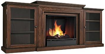 Amazon.com: Frederick Entertainment Gel Fireplace in Chestnut Oak ...