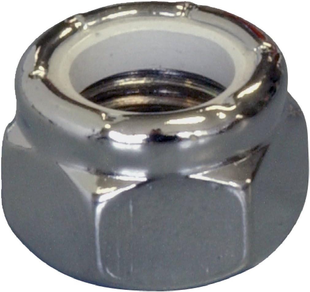 3-Pack 5//16-24-Inch The Hillman Group 943086 Chrome Nylon Insert Lock Nut