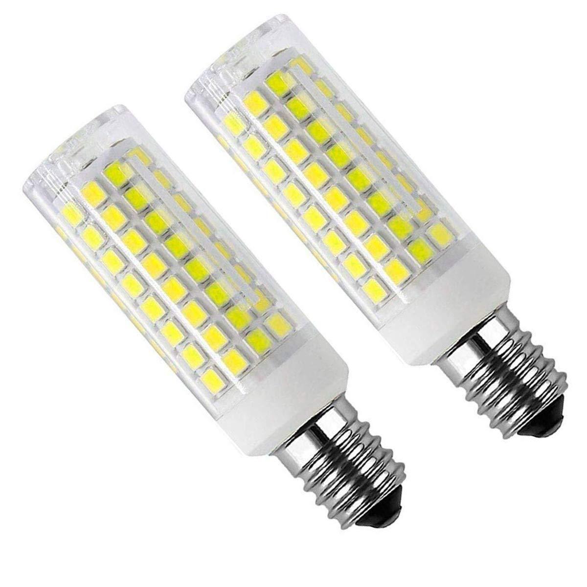 E14 Light Bulb E14 European Base Bulb,E14 LED Refrigerator Light Bulb,E14 Base LED Light Bulbs 8W LED Light (Equivalent to75W Incandescent Bulb) 90-2835-SMD LED Chipsets (E14-Daylight White -Dimmable)