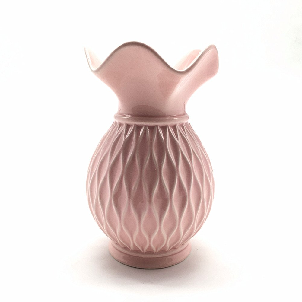 ANDING Ceramic Decorative Vase (Pink)