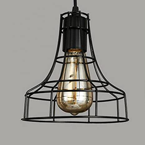 pendant light, sanguinesunny ceiling lamp industrial vintage stylependant light, sanguinesunny ceiling lamp industrial vintage style mini hanging lamp with loft wire cage guard 1 light in black finish 40w 110v amazon