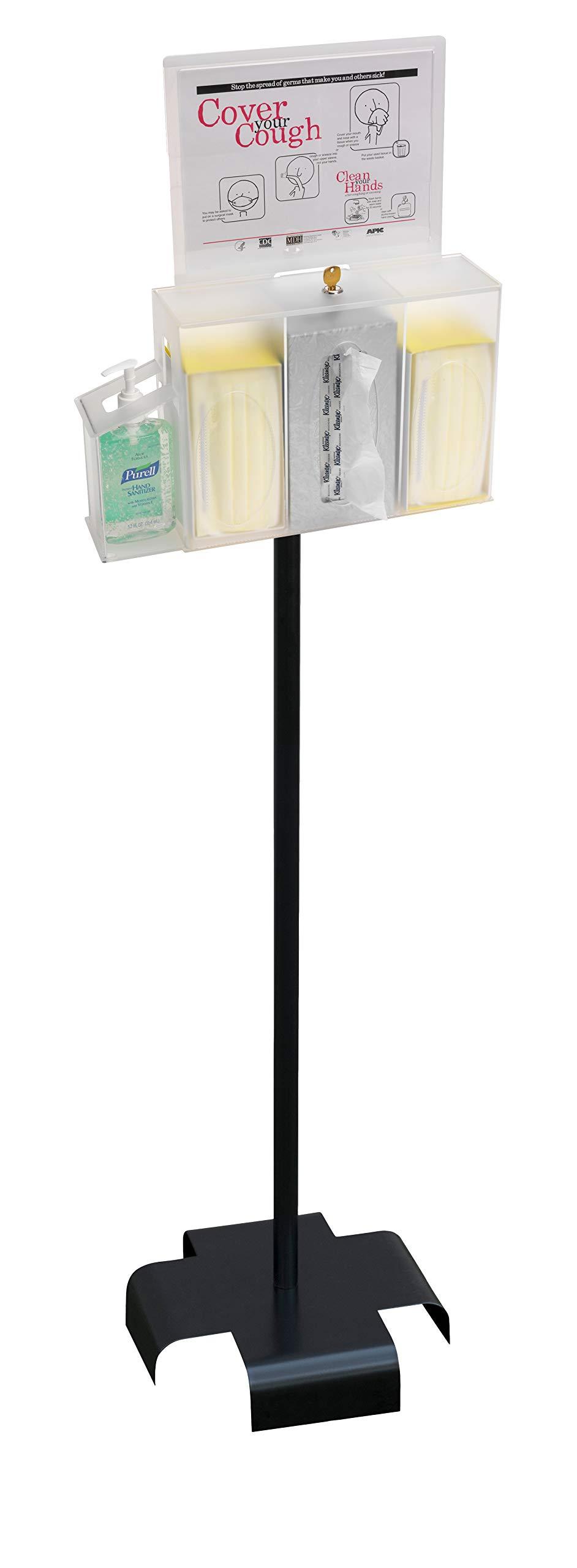 Omnimed 304006_311STAND Hygiene Station Bundle W Stand & Sign Holder