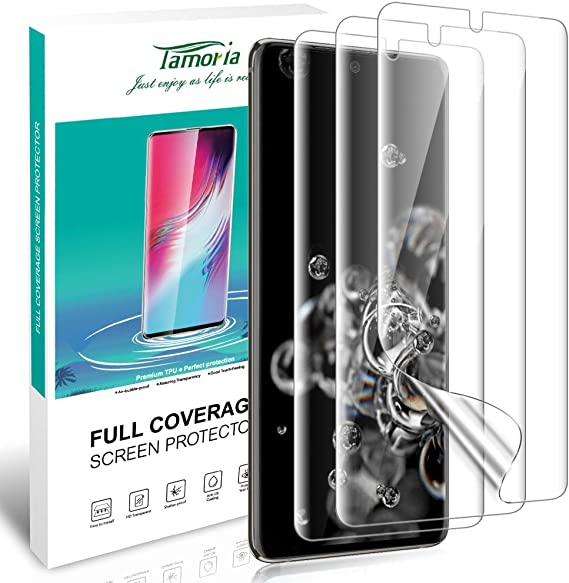 Tamoria Galaxy S20 Plus Screen Protector TPU Film 4th Generation with Installation Kit Ultrasonic Fingerprint Compatible Screen Cover for Samsung Galaxy S20 5G 6.7 HD Clear 3 Pack