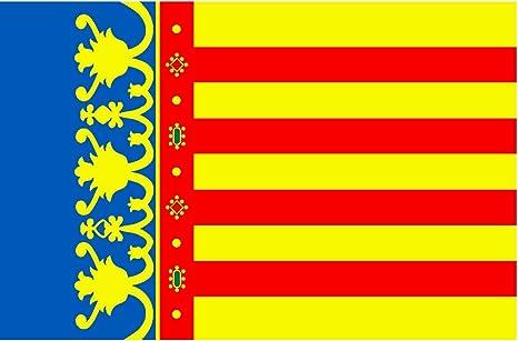 Durabol Bandera de Comunidad Valencia - Valenciana 150*90 cm Satén .: Amazon.es: Hogar