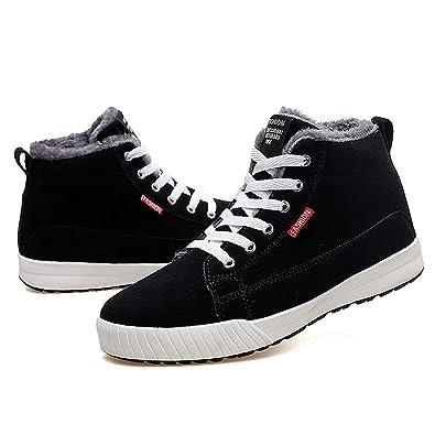 902e16d21fe Gracosy Chaussures Hiver Fourrées Hommes Femmes Enfants