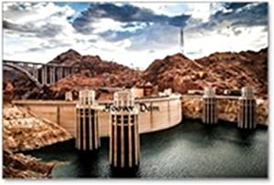 "CafePress - Hoover Dam - Postcards (Package of 8), 6""x4"" Glossy Print Note Card"