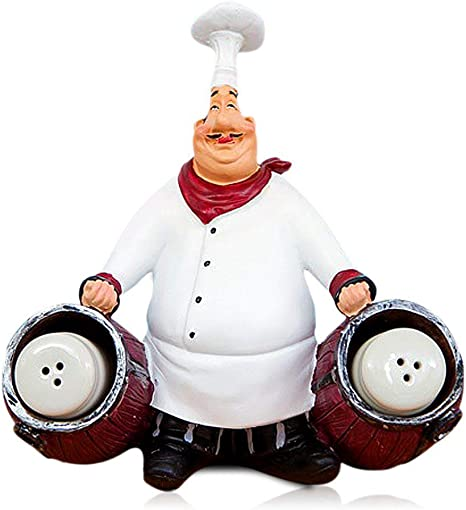 Amazon Com Smanta French Decorative Chef Statues Resin Home Decoration With Toothpick Holder For Country Cottage Decor Gourmet Kitchen Decorations Dining