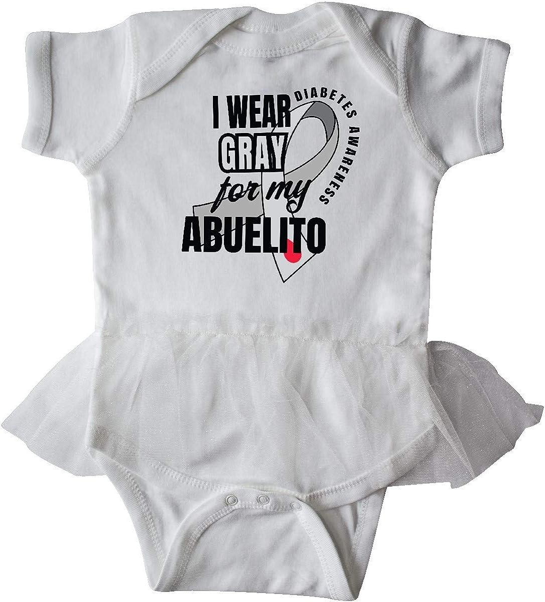 inktastic Diabetes Awareness I Wear Gray for My Abuelito Infant Tutu Bodysuit