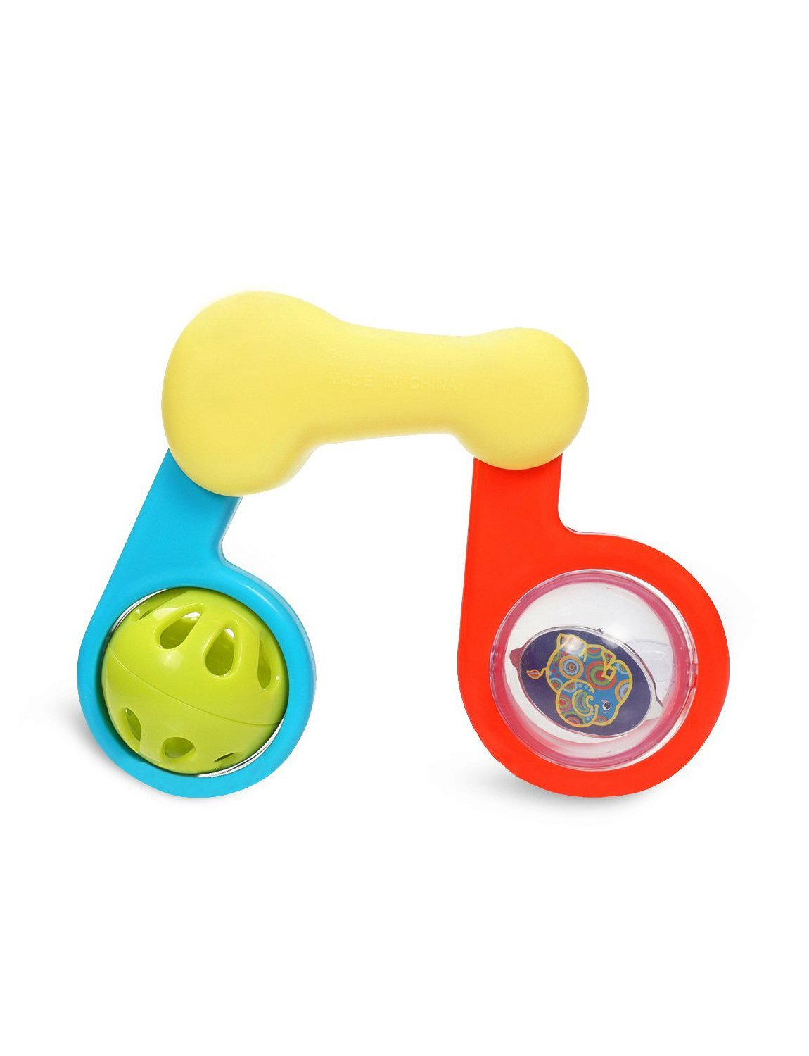 KONIG KIDS Baby Rattle Music Note Toy for Newborns 3 Months + Multicolor