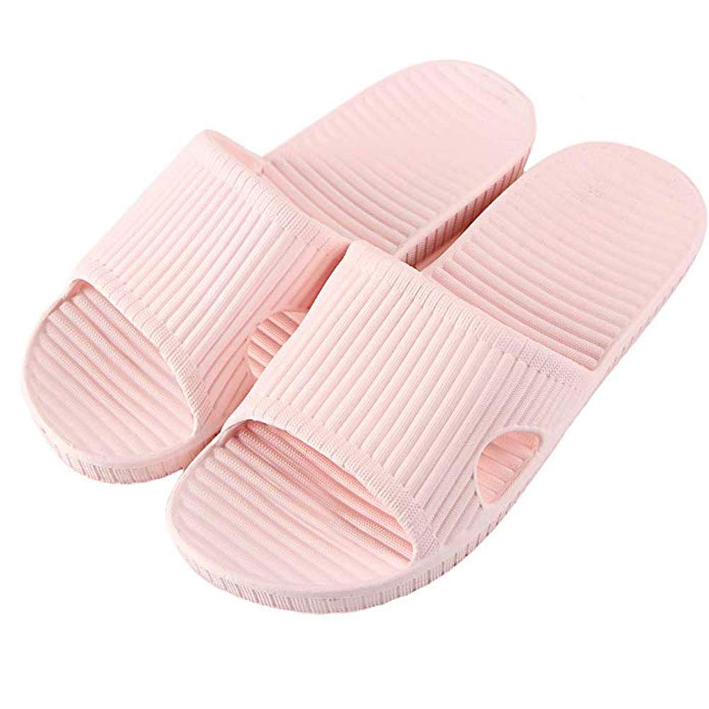 Moodeng Shower Slippers Men and Women Non-Slip Causal Indoor Home Bathroom Sandals Poolside (US Women 7-8/men 5-5.5, Pink01)