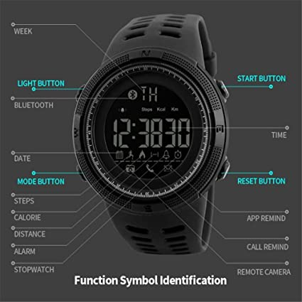 Amazon.com: Mastop Men Outdoor Sport Smart Watch Fashion Digital Watches Fitness Tracker Bluetooth ios 4.0 Android Waterproof Wristwatch: Cell Phones & ...