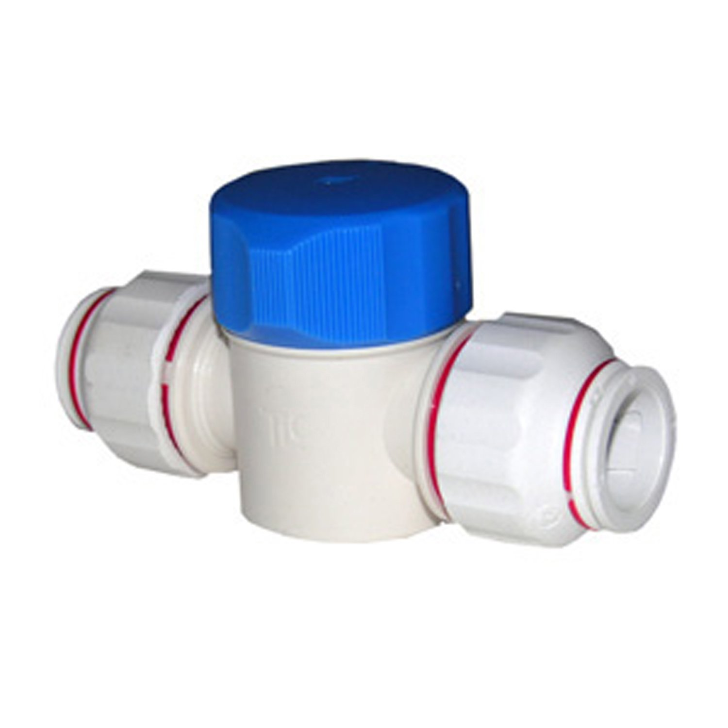 LASCO 19-6509 Straight Shut Off Valve Push-In Fitting with 7//8-Inch OD Tubing Plastic