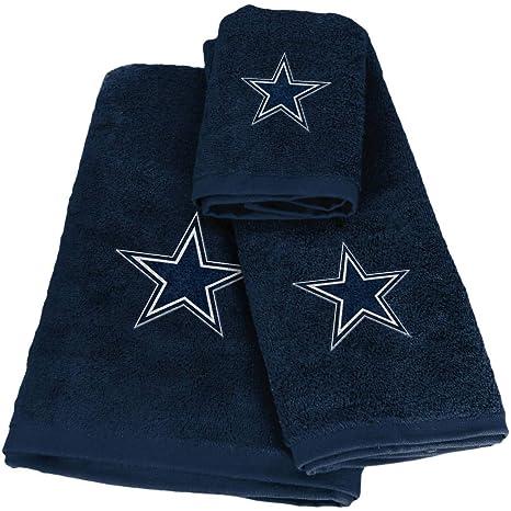 Juego de toallas de baño con diseño de bovino de la NFL, 3 piezas,