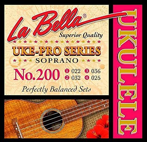 LaBella 200 Uke-Pro Soprano Ukulele Strings (Uke Soprano Strings)